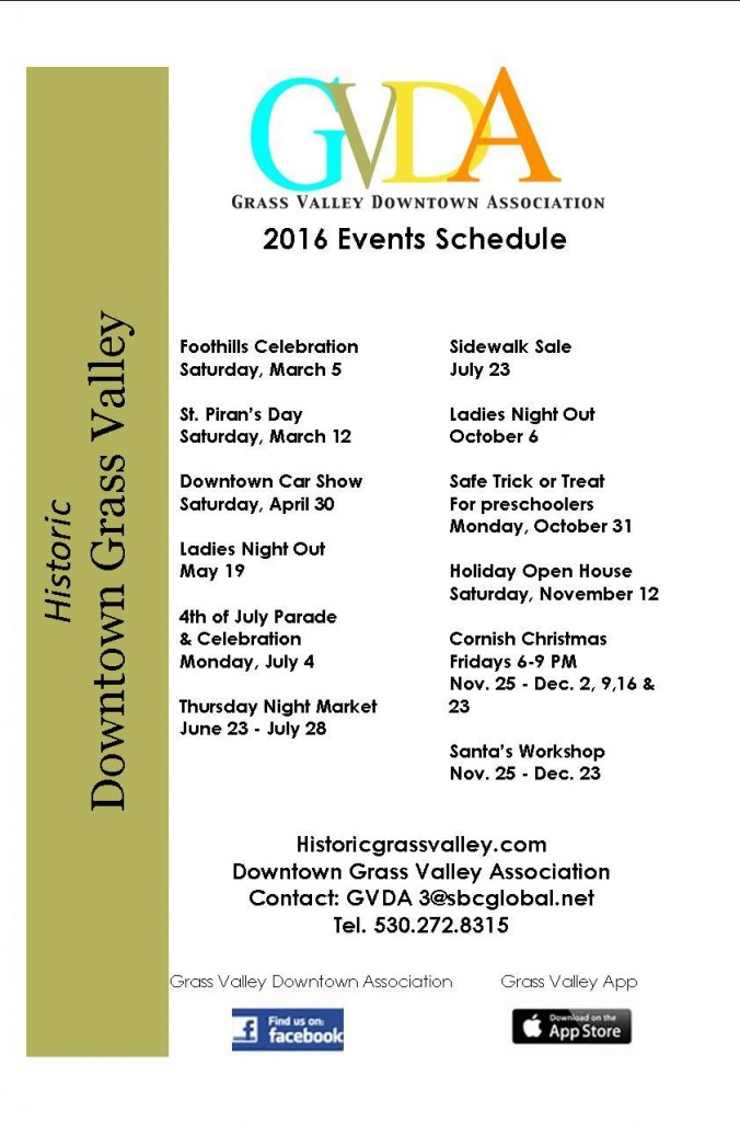 2016 Schedule of Events