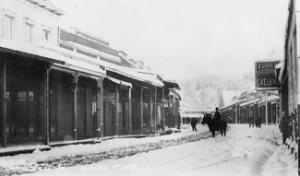 Downtown Grass Valley, California during the winter of 1880 image