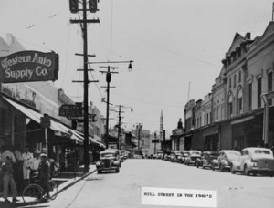 Downtown Grass Valley, California in the late 1940s image