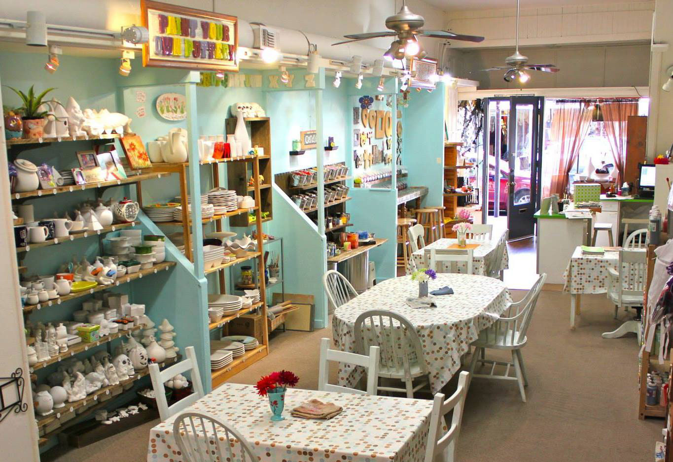 We Offer Pottery, Mosaics, Candle And Soap Making, DIY Bags And Pillows,  Handmade Muslin Dolls, And Canvas Art, We Also Have A Great Retail Section  With ...