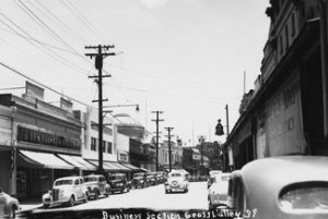 Downtown Grass Valley, California in 1939 image