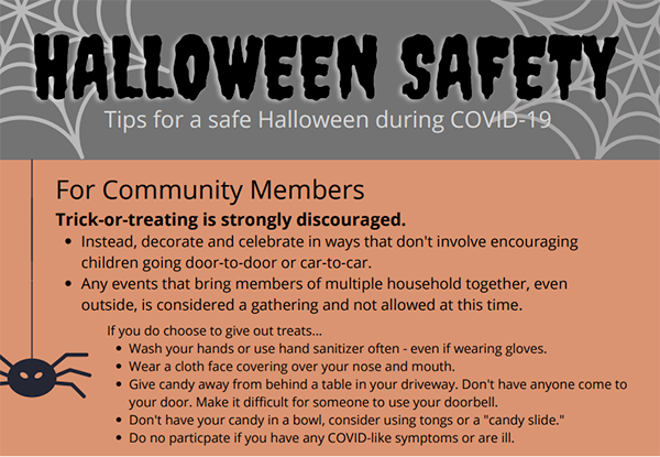halloween safety flyer