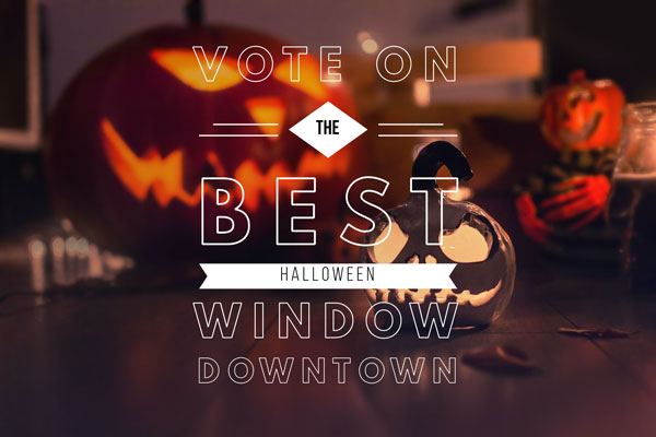 vote best halloween window downtown